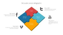PowerPoint Infographic - Puzzle Square Infographic