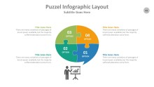 PowerPoint Infographic - Puzzle 042