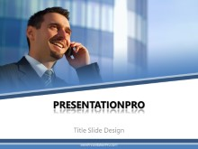 Young Business Guy PPT PowerPoint Template Background