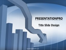 Declining Chart PPT PowerPoint Template Background
