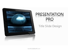 Global Tablet PPT PowerPoint Template Background