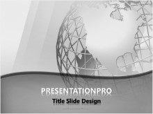 Wireframe Globe PPT PowerPoint Template Background