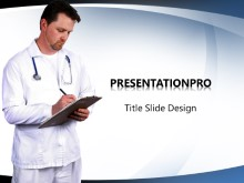 Doc With Charts PPT PowerPoint Template Background