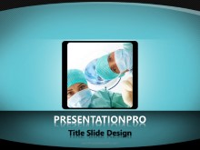 Looking Up PPT PowerPoint Template Background