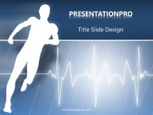 Raising The Pulse PPT PowerPoint Template Background