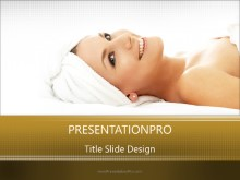 Spa Day PPT PowerPoint Template Background