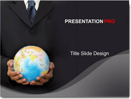 free powerpoint template, background, theme, global suit