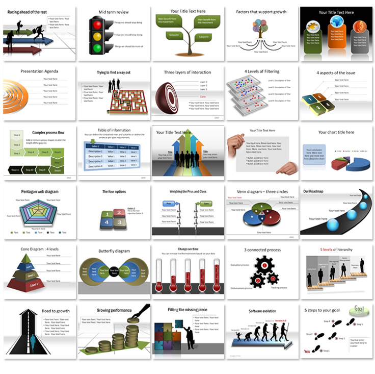 presentation diagrams   beautiful editable diagrams in powerpointuse diagrams in powerpoint  out the hassle