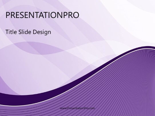 modern wave purple powerpoint template background in