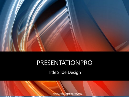 Red Blue Swirls Powerpoint Template Background In Abstract
