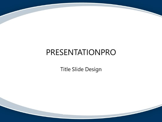 Swoop Simple Blue Powerpoint Template Background In Abstract
