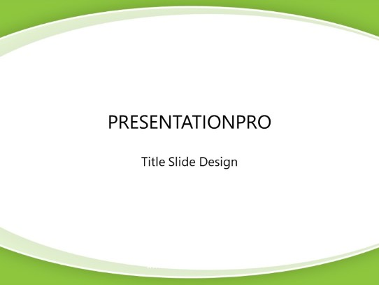 Swoop Simple Green Powerpoint Template Background In Abstract
