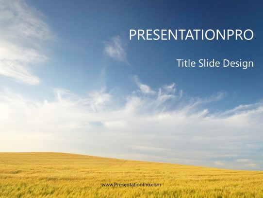 Agriculture Landscape Powerpoint Template Background In