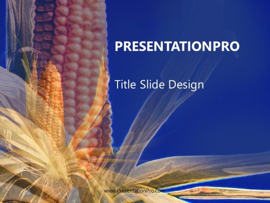 Corn PowerPoint Template Background In Agriculture Animals