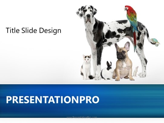 Friendly Pets Powerpoint Template Background In Agriculture