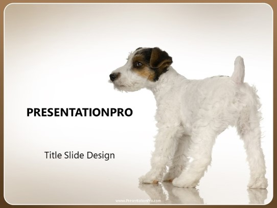 Playful Pup Powerpoint Template Background In Agriculture Animals