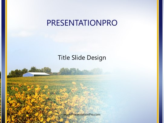 Soy Bean Field Powerpoint Template Background In Agriculture Animals