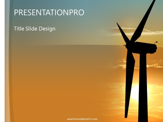 Wind Turbine Powerpoint Template Background In Agriculture