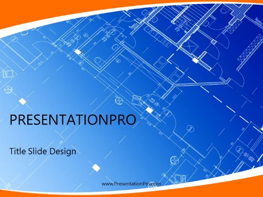 Architecture Blueprints Powerpoint Template Background In