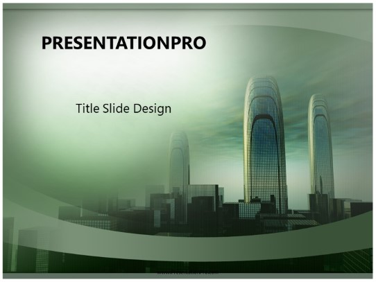 Futuristic City Powerpoint Template Background In Architecture
