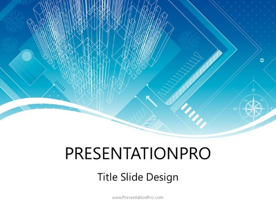 Structural Blueprint Concept Powerpoint Template Background