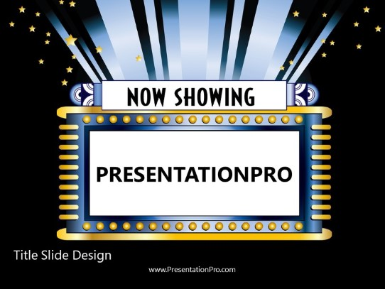 now showing sign powerpoint template background in art