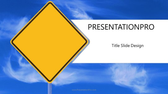 blank caution widescreen powerpoint template background in business