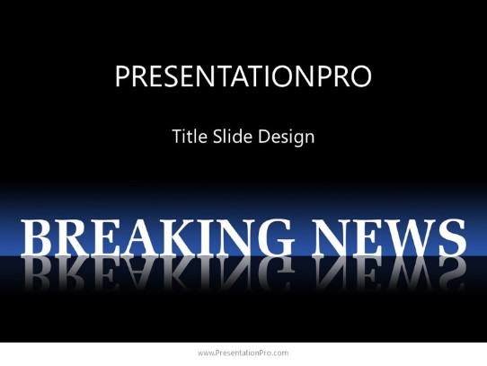 Powerpoint Templates Breaking News 2 Business Template