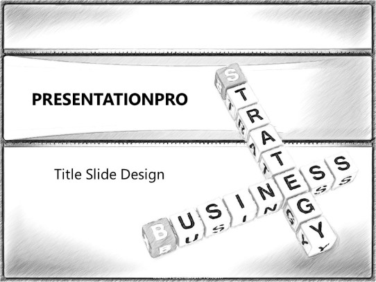 Powerpoint Templates Business Strategy Crossword Sketch Business Template Presentation Designs From Presentationpro