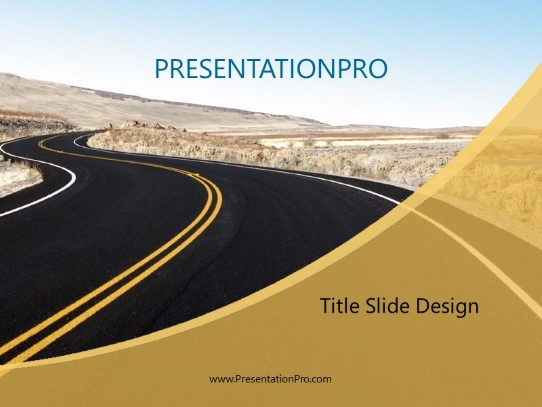 Curving Road PowerPoint Template Background In Business Concepts