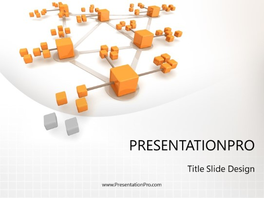 Network Connections PowerPoint template background in Business