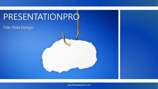 on the hook widescreen powerpoint template background in business