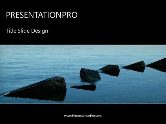 Stepping Stones Powerpoint Template Background In Business