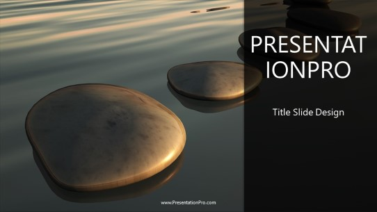 Stepping Stones Widescreen Powerpoint Template Background In