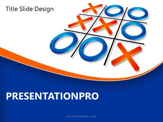 Tic Tac Toe Strategy Powerpoint Template Background In Business