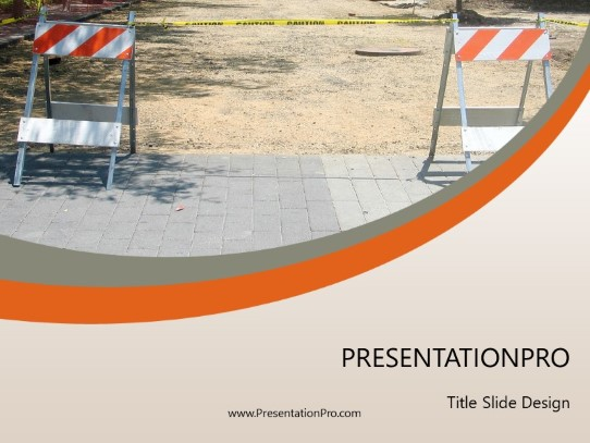 Under Construction Powerpoint Template Background In