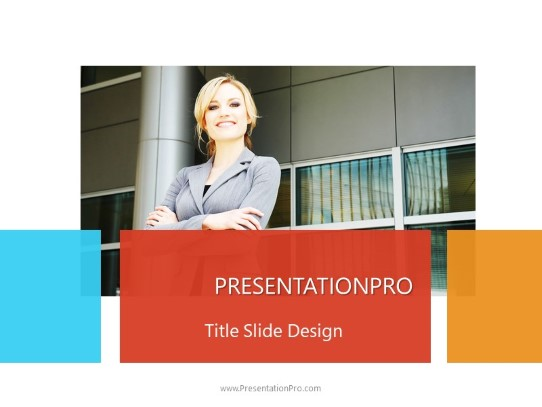 Business Woman Arms Folded Powerpoint Template Background In