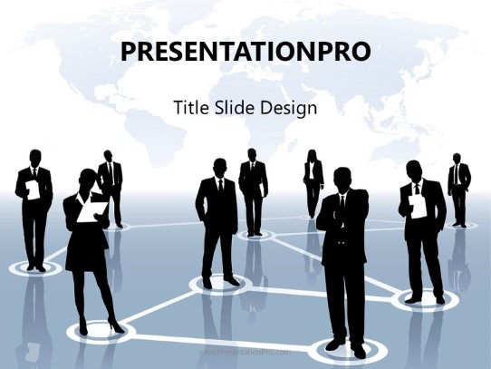 international business network powerpoint template background in