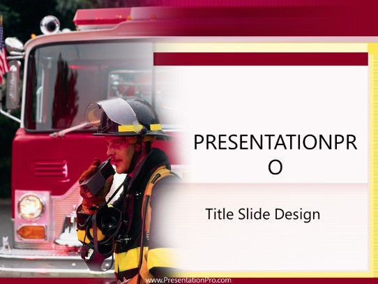 fireman powerpoint template background in industry careers