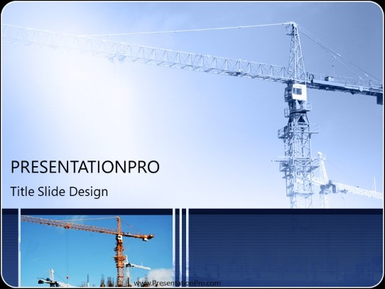Construction Crane Powerpoint Template Background In