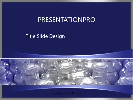 plastic bottles powerpoint template background in