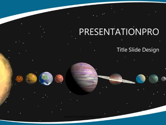 astronomy solar system powerpoint template background in education