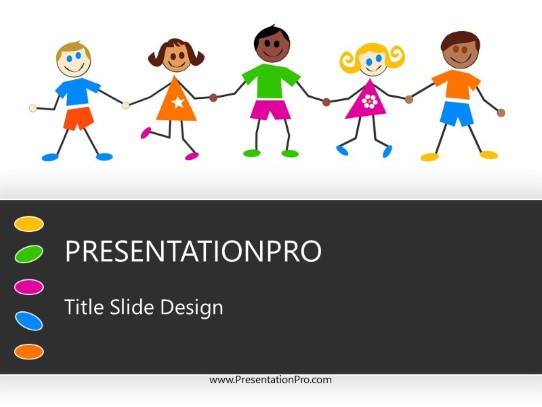 colorful kids powerpoint template background in education and