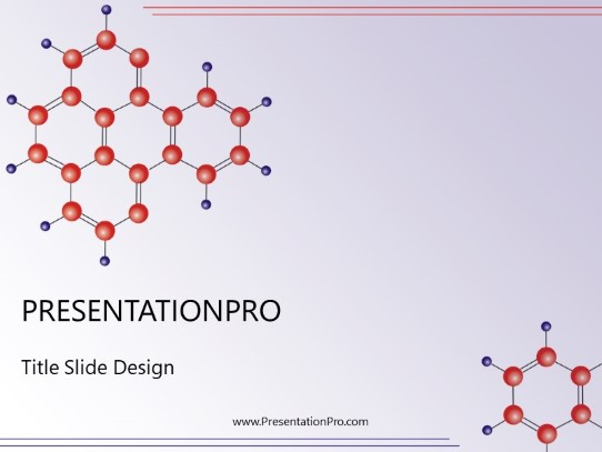 Molecule Structure Powerpoint Template Background In