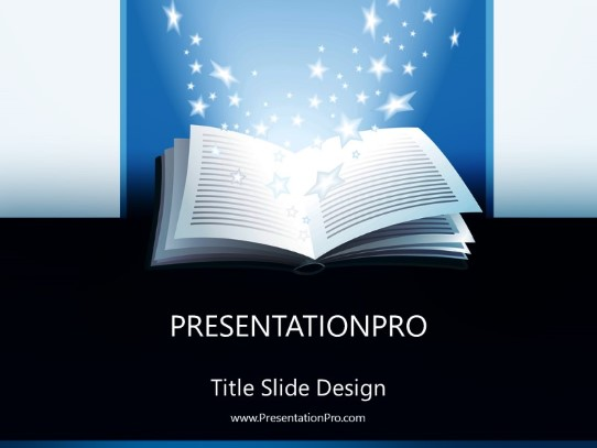 open book powerpoint template background in education and training