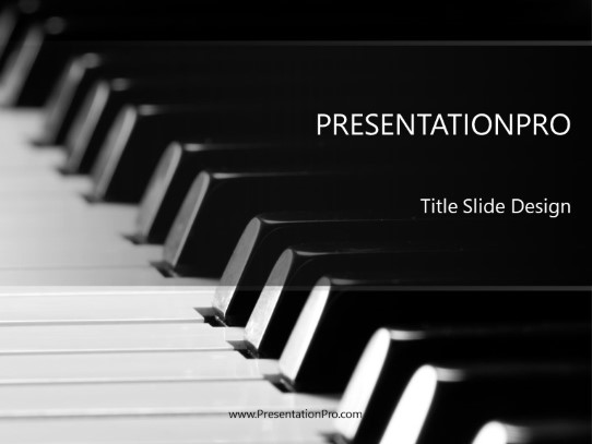 Piano Music Powerpoint Template Background In Art Entertainment