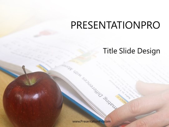 Apple Powerpoint Template Background In Education And Training