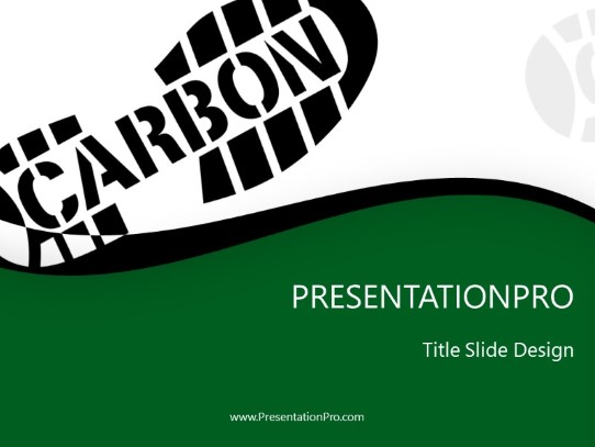 Carbon Footprint Green Powerpoint Template Background In
