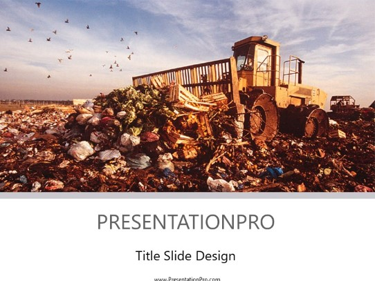 landfill powerpoint template background in environmental powerpoint ppt slide design category