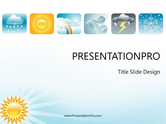 weather climate icons powerpoint template background in